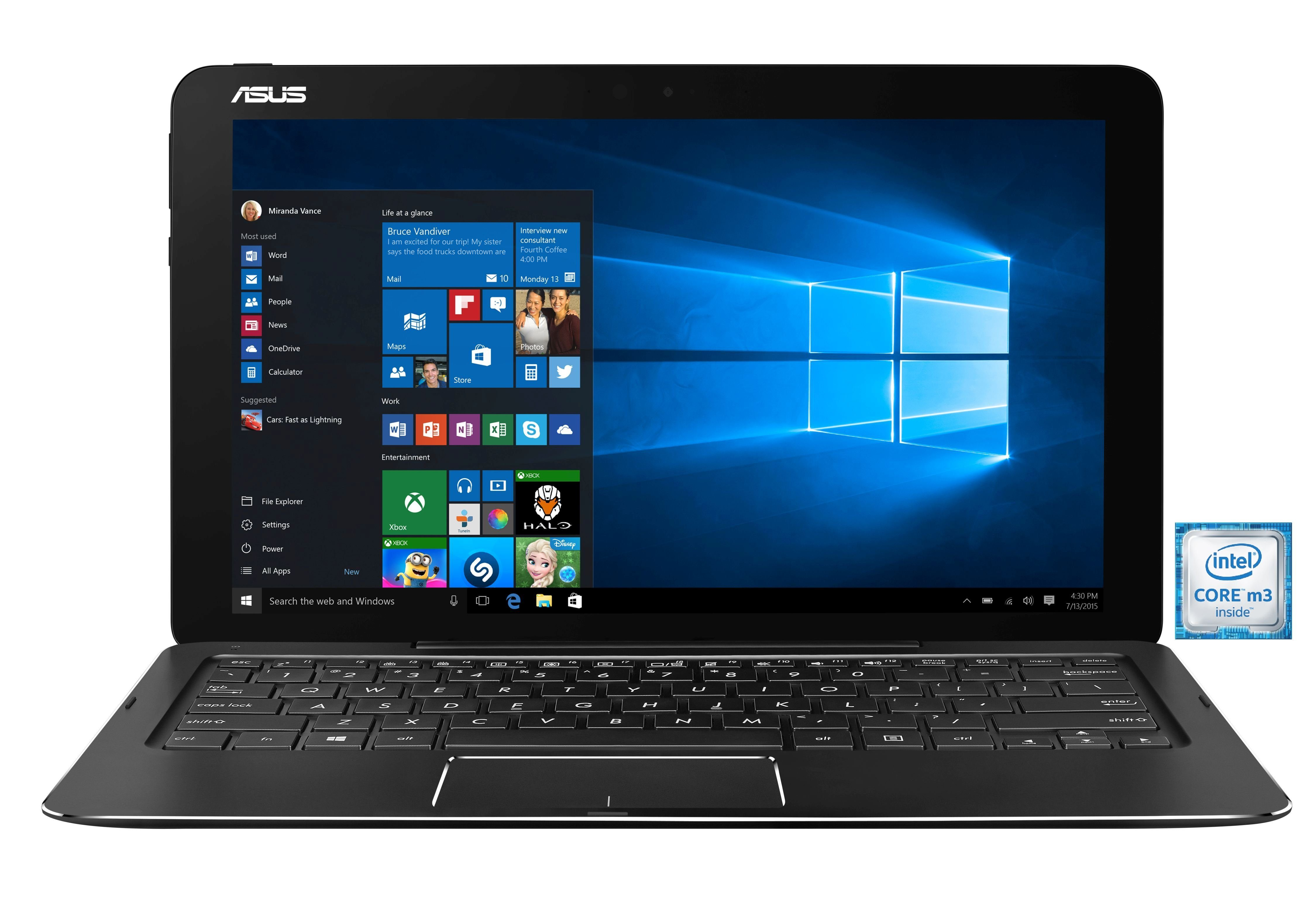 "ASUS T302CA-FL012T Notebook »Intel Core m3, 31,7cm (12,5""), 256 GB SSD, 8 GB«"